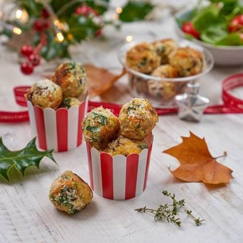 Turkey, Cranberry and Vegetable Balls Recipe Image by Annabel Karmel