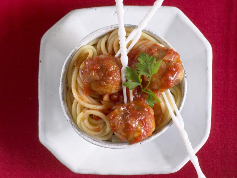 Turkey Meatballs & Spaghetti recipe by Annabel Karmel