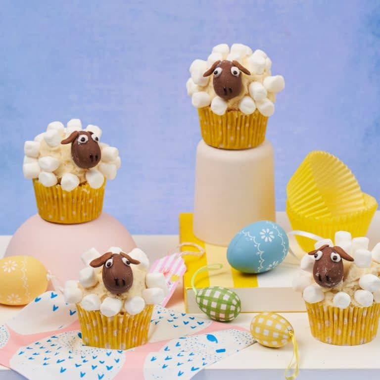 Easter Sheep Cupcakes recipe by Annabel Karmel