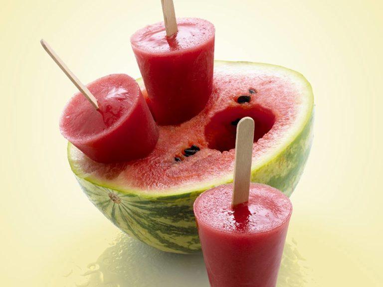 Strawberry & Watermelon Ice Lollies recipe by Annabel Karmel