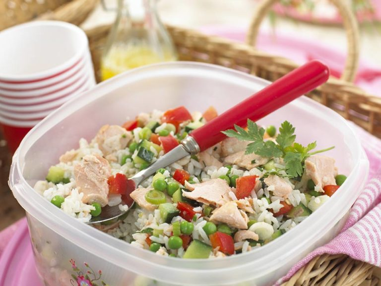 Salmon & Rice Salad recipe by Annabel Karmel