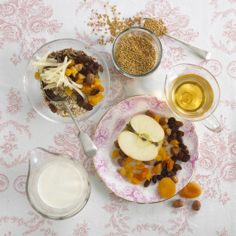 Apple, Hazelnut & Bircher Muesli recipe by Annabel Karmel