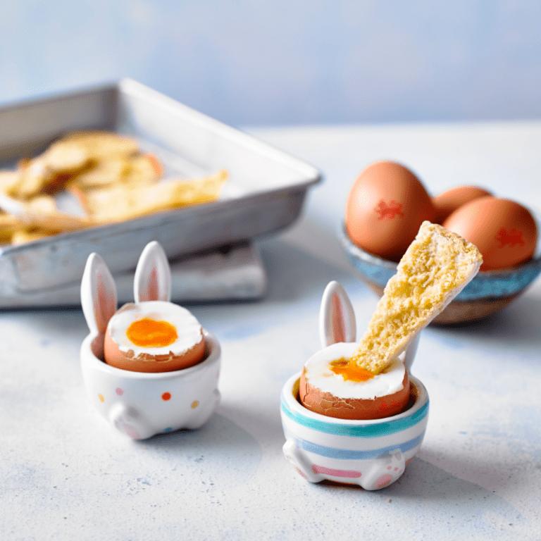 dippy eggs with garlic pitta people recipe annabel karmel