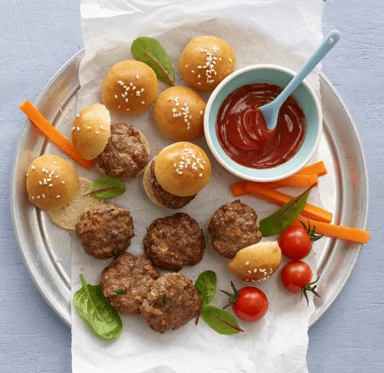 Mini Burgers Recipe by Annabel Karmel