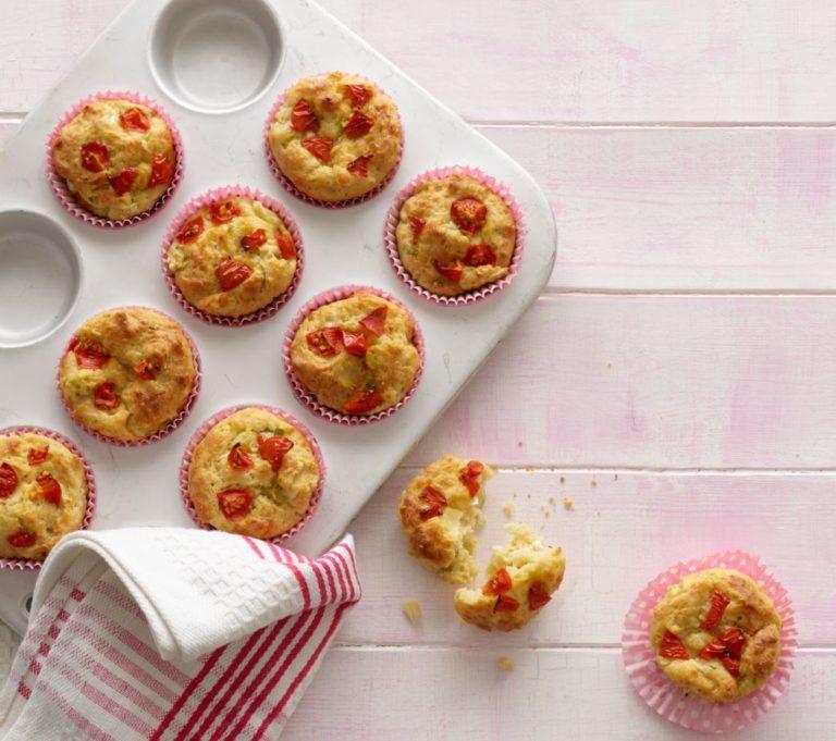 Cheese & Cherry Tomato Muffins recipe by Annabel Karmel