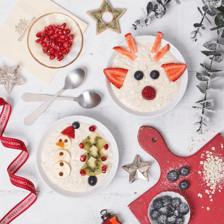 Festive Faces Porridge Recipe by Annabel Karmel