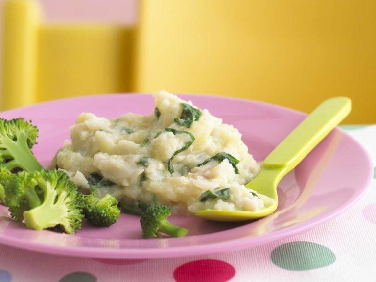Cod & Spinach Puree recipe by Annabel Karmel