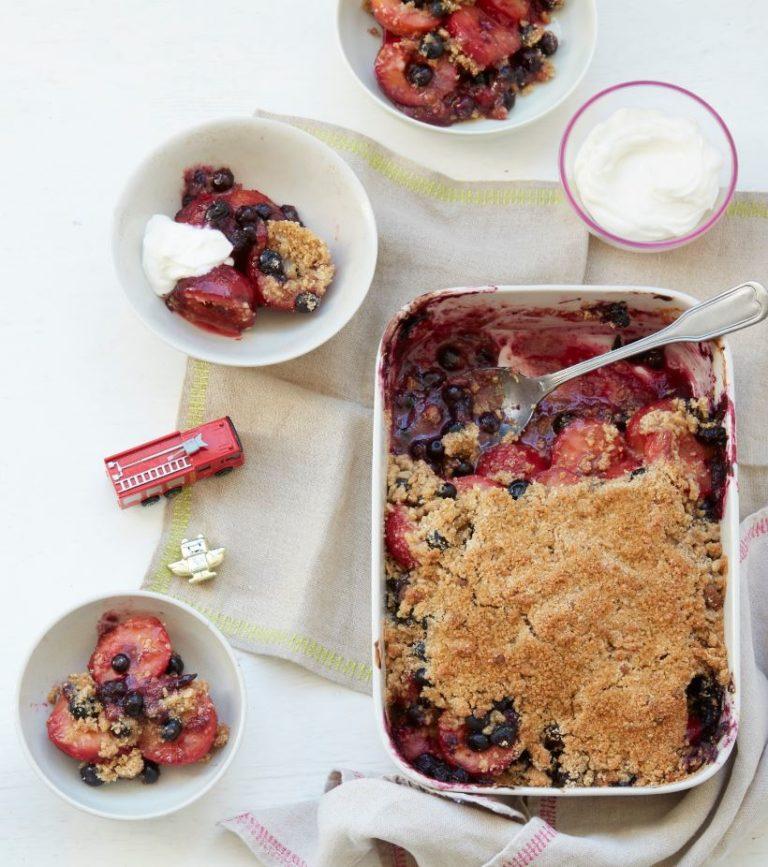 Plum & Blueberry Crumble Recipe by Annabel Karmel