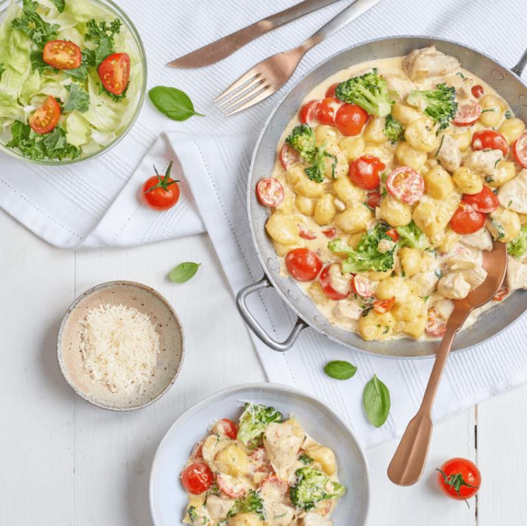 Creamy Chicken & Tomato Gnocchi Recipe by Annabel Karmel