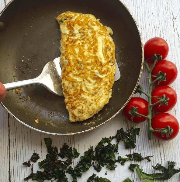 Kale & Tomato Omelette recipe by Annabel Karmel