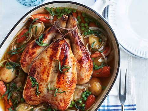 One Pot Chicken With Spring Vegetables recipe by Annabel Karmel