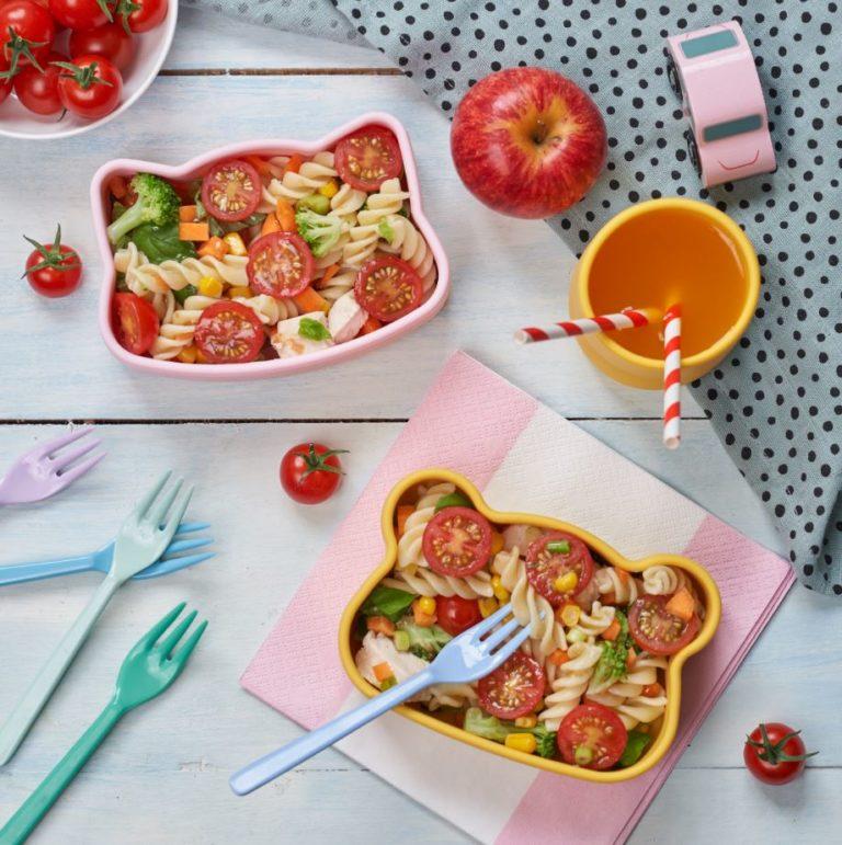Cherry Tomato & Chicken Pasta Salad recipe by Annabel Karmel