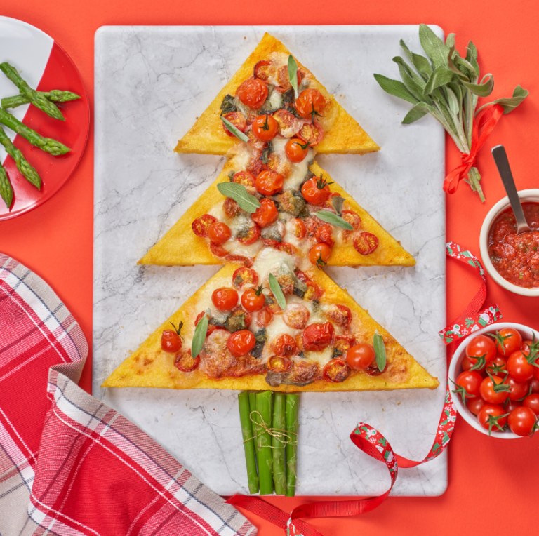 Piccolo Cherry Tomato Christmas Tree Pizza Recipe by Annabel Karmel