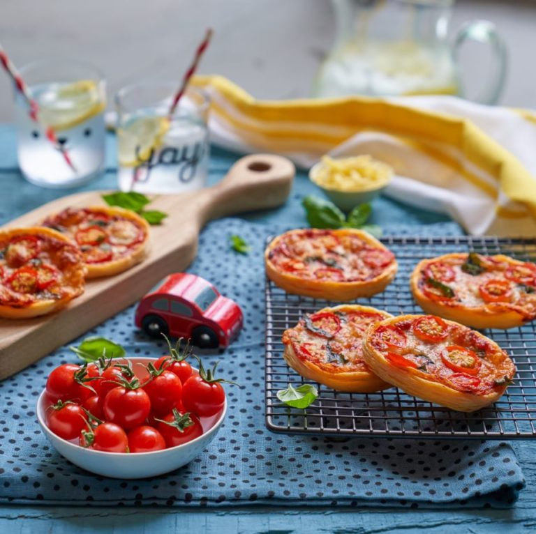 Mini Puff Pastry Pizzas Recipe by Annabel Karmel
