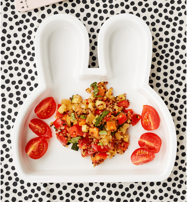 Quinoa with Mediterranean Vegetables Recipe by Annabel Karmel