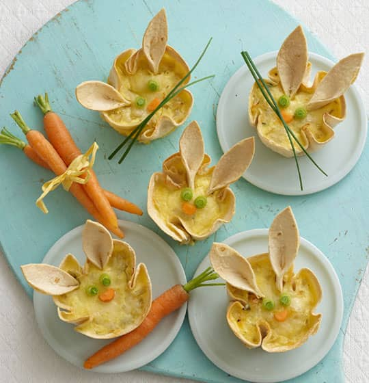 Mini Bunny Quiches - Spring time recipe from Annabel Karmel