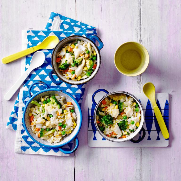 5 Veggie Rainbow Cod Recipe by Annabel Karmel