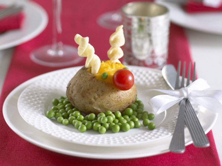 Rudolph Baked Potato recipe by Annabel Karmel