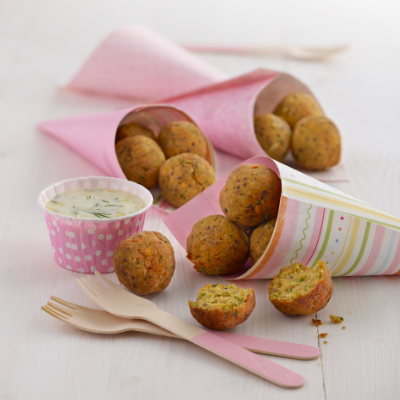 Cod & Salmon Quinoa Balls Recipe by Annabel Karmel