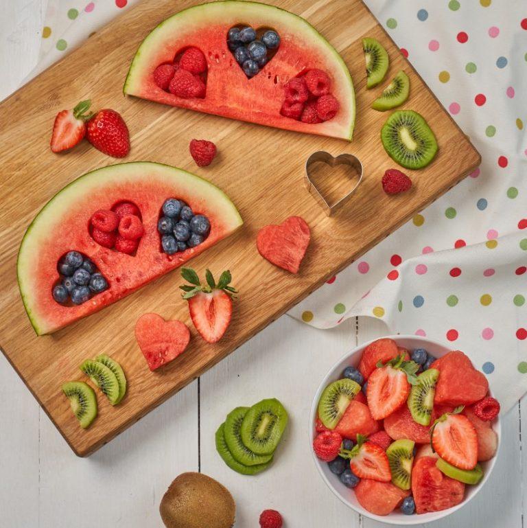 Watermelon & Berry Heart Platter Recipe by Annabel Karmel